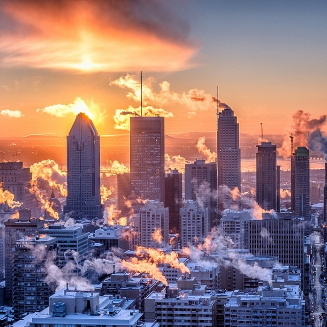 Skyscrapers at sunrise. Image: Christian Barrette Flickr
