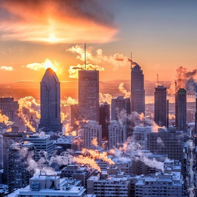 Skyscrapers at sunrise. Image: Christian Barrette Flickr