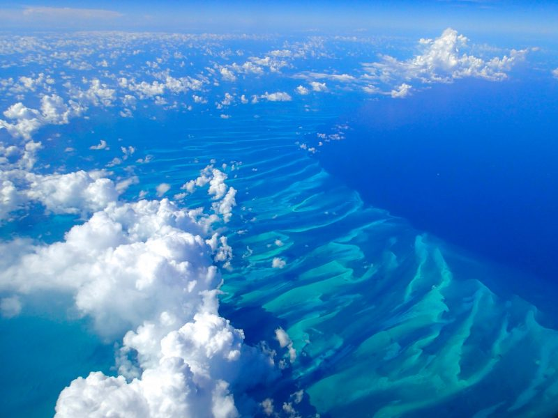 The blue waters of the Caribbean Sea